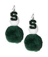 NCAA - Michigan St. Spartans Pom Pom Earrings  - $18.99