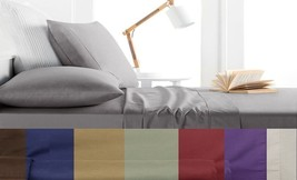 4 Piece Bed Sheet Set Egyptian Comfort 1800 Series King Queen Size Solid... - $25.64+