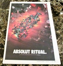 ABSOLUT RITUAL Canadian Vodka Ad LARGE NEWSPAPER PAGE 2002 HARD TO FIND! - $9.99