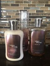 3 Lot Bundle TWILIGHT WOODS Bath & Body Works Lotion Shower Gel Fragrance Mist - $49.49