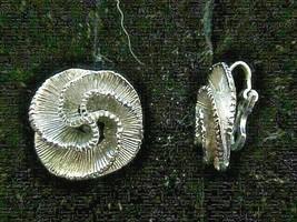 """AVON earrings, clip-on, silver swirl flower - 7/8"""" round - $1.99"""