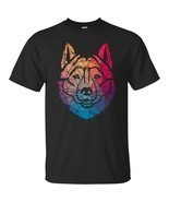 Geometric Cool Siberian Husky Shape Gift T-Shirt Mens Short Sleeve T Shirts - £16.37 GBP+