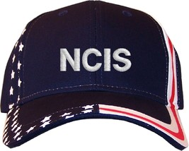 NCIS Embroidered Stars & Stripes Baseball Cap Hat Navy - $25.95