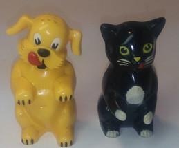 Vintage F&F DOG AND CAT   Mold & Die Works & Pepper Shaker Set Dayton, O... - $14.84