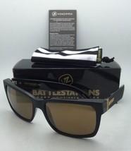 Battlestations VONZIPPER Sunglasses VZ ELMORE Black & Gold Satin Frame w... - $109.95