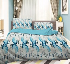 3D Leaves Beads Bed Pillowcases Quilt Duvet Cover Set Single Queen King Size AU - $90.04+
