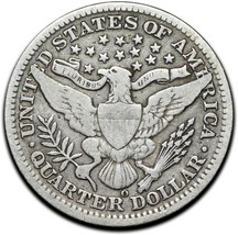 1909O Silver Barber Quarter Dollar 25¢ Coin Lot# A 376 image 2