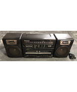 Panasonic RX-CT810 Boombox Dual Cassette Tape Deck Portable Stereo - Wor... - $49.49