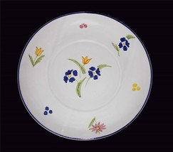 """CANTAGALLI Firenze Italy Tulip Floral 13-1/2"""" Heavy Pottery Platter Unused - $38.99"""
