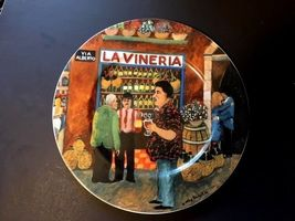 """GUY BUFFET TUSCAN STOREFRONTS PLATE DINNER LARGE 11"""" ITALIAN ITALY LA VI... - $31.07"""
