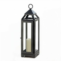 Tall Slate Metal Candle Lantern - $13.60