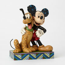 "6"" ""Best Pals"" Mickey Mouse & Pluto Figurine - Jim Shore Disney Traditions image 3"
