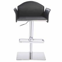 Modrest Emily Modern Black Eco-Leather Bar Stool - $223.30
