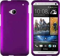 HTC ONE M7 PURPLE RUBBERIZED SNAP HARD CASE - $7.99