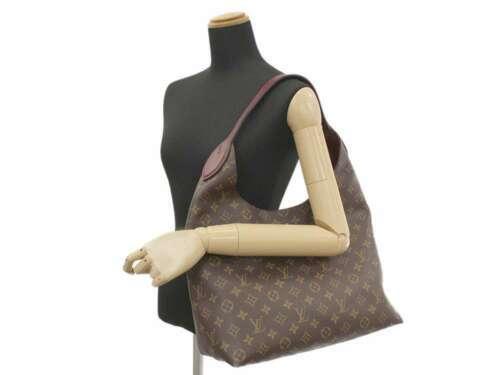 LOUIS VUITTON Flower Hobo Monogram Bordeaux Shoulder Bag Italy Authentic 5320714