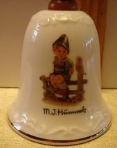 "M.J. Hummel Wayside Harmony Decorative Porcelain Bell Wooden Handle 5.5""... - $16.65"