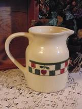 Hartstone Stoneware Pitcher Vase Red Green Cher... - $9.80