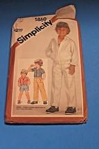 Vintage Sewing Pattern Simplicity 1980's Boys 5869 Shirt Jacket Pants Sh... - $11.63