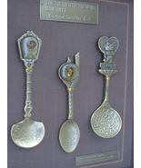 Framed Seoul Korea 1988 Olympic Commemorative 3 Spoons - $38.99