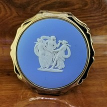 Vintage STRATTON England Gold 3 Graces Wedgwood Powder Compact Mirror - $89.95