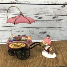 "Dept 56 ""Chelsea Market Flower Monger & Cart"" #58270 Heritage Village In... - $19.79"