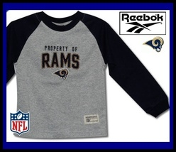 ST. LOUIS RAMS KIDS 5/6 REEBOK SEWN LOGO SHIRT MED NEW - $18.24