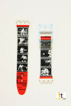 17mm Unisex Camera/Movie Film Design Compatible with Swatch Watch Band Straps - $9.95