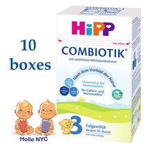 HiPP Stage 3 Bio Combiotic Infant Formula 10 Boxes 600g Free Shipping - $319.95