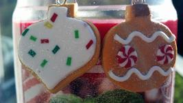 Gingerbread Christmas Ornaments Earrings Hand Made In USA - $19.99