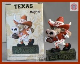 Texas Longhorns Bevo Football  3 D Magnet New - $10.64