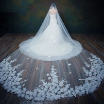 Chic / Beautiful White Wedding Tulle Embroidered Wedding Veil - $97.00