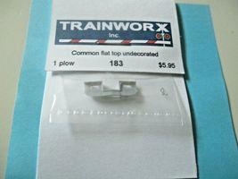 Trainworx Stock #183 Snowplow Common Flat Top  Undecorated N-Scale image 3