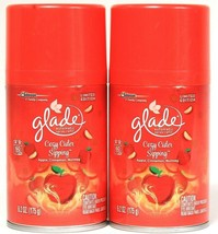 2 Glade 6.2 Oz Limited Edition Cozy Cider Sipping 60 Days Automatic Spray Refill - $19.99