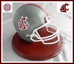 Washington State Cougars Football Helmet On Wood Base - $35.84
