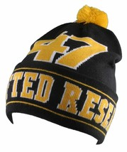 LRG Mens Black Yellow Core Collection Men's 47 Lifted Pom Beanie Winter Hat NWT