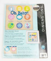 "Dimensions Counted Cross Stitch Kit - Birth Record Baby Dots 10"" x 10"" - $12.61"