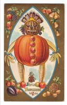 Vintage Thanksgiving Postcard - Vegetable Man 5701 image 1