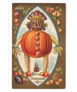 Vintage Thanksgiving Postcard - Vegetable Man 5701 - $14.95