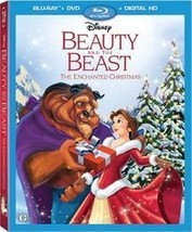 Disney's Beauty and the Beast Enchanted Christmas (Blu-ray + DVD + Digital) New