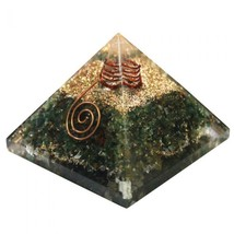 Green Jade Orgone Energy Pyramid With Crystal Point to Enhance Self Control - $64.13