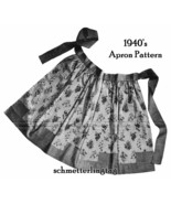 1940s Swing Era War II Apron Pattern 40s Instruction Aprons Kitschy Retr... - $5.99