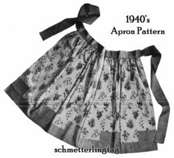 1940s Swing Era War II Apron Pattern 40s Instruction Aprons Kitschy Retro 2 DIY