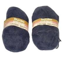2 Vintage New Bucilla Mirage Knitting Yarn 50g Skeins 50%Acrylic 50%Nylon Crafts - $9.85