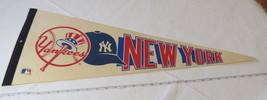 New York Yankees Vintage Major League Baseball MLB Souvenir Pennant Logo - $69.29