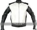 Motorcycle biker racing leather jacket front thumb155 crop