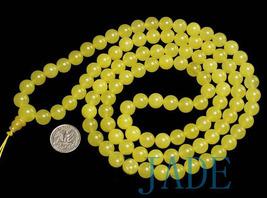 Tibetan Translucent Yellow Jade Prayer Beads Mala image 1