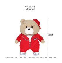 Izen Creation Hippop Stuffed Animal Teddy Bear Plush Toy 35cm 13.7 inches (Red) image 6