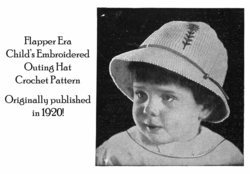 1920 Flapper Childs Brimmed Hat Crochet Pattern Titanic Era Fashion Reenactment image 2