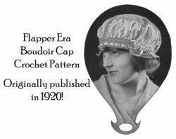 1920 Flapper Era Boudoir Cap Hat Crochet Pattern Titanic Era Fashion Reenactment image 2
