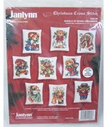 Janlynn Christmas Bundle of Bears Ornaments 125-89 - $12.50